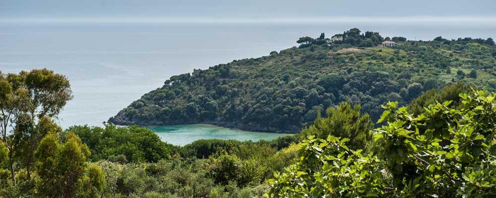 veduta panoramica della spiaggia dell'ariana e sant'agostino