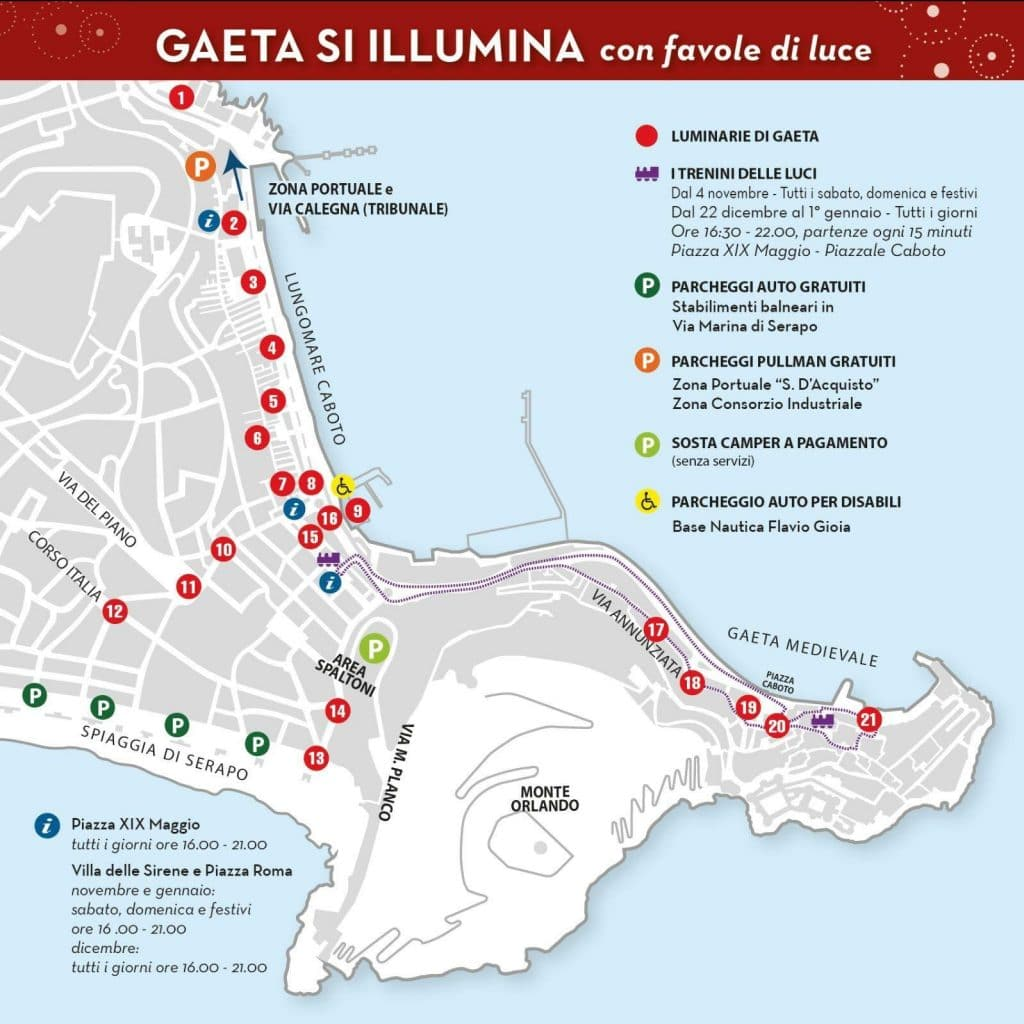 Percorsi luminarie Gaeta 2017