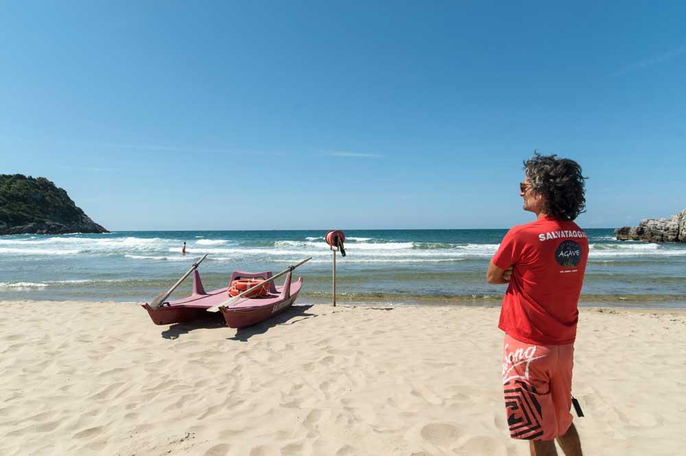 Spiaggia dell'Ariana Gaeta - Vista Gaeta